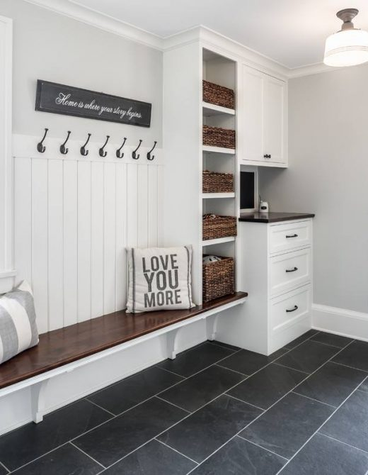 An Organized, No Clutter Mudroom
