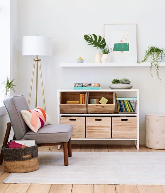 Neutral colored playroom decor