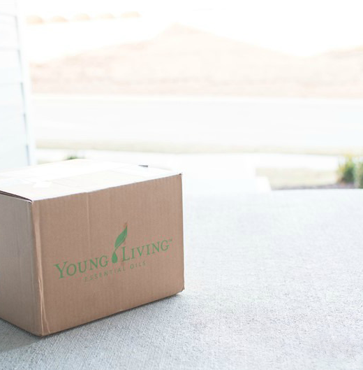 Young Living box delivered to doorsetp