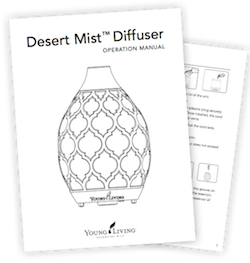 Download the Young Living Desert Mist Diffuser Operating Manual
