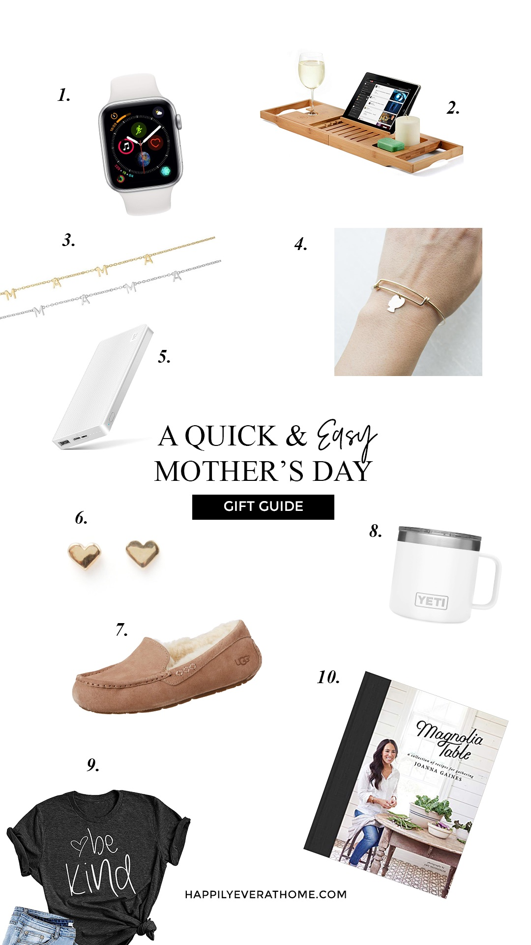 A roundup of Mother's Day gift guide ideas